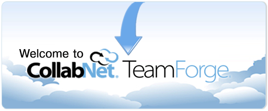 CollabNet TeamForge  - Welcome! If this is your first visit, please click the Online Help link to the left. For further assistance, please contact your CollabNet TeamForge administrator.